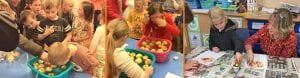 Apple bobbing and autumn artwork